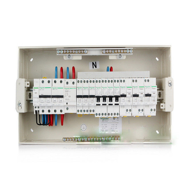Ready To Install Type MCB Distribution Box RCCB RCBO For Home AC220~240V Incoming 63A