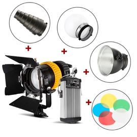 80W Spotlight LED Studio Lights Kontrol Suhu Warna Ganda Dengan Indeks Hight CRI